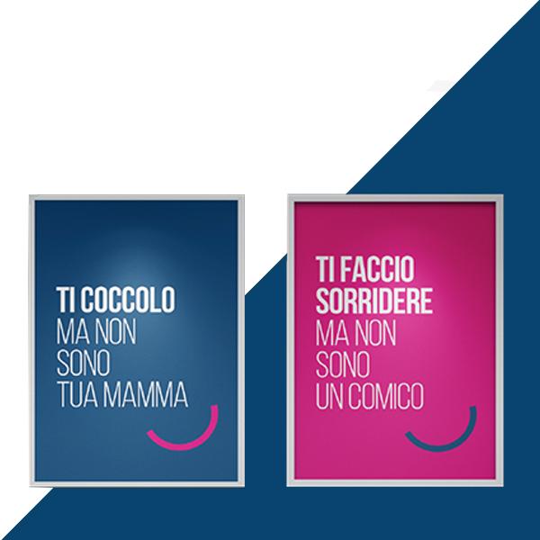 Dental Più Roma campagna opening manifesto 70x100